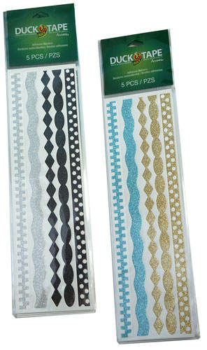 BLACK-SILVER ADHESIVE BORDER STRIPS