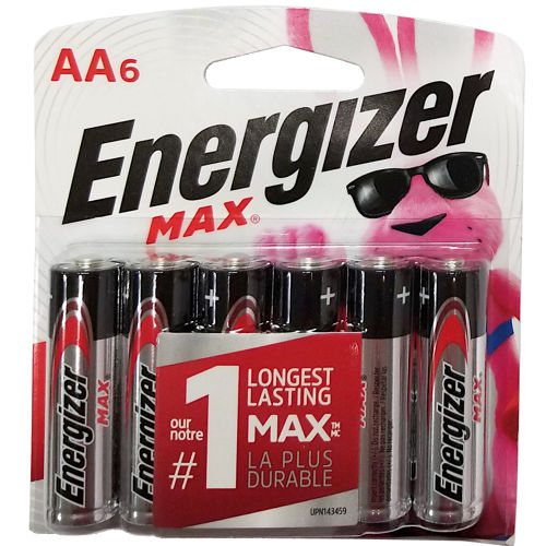 6-PACK AA ENERGIZER BATTERIES