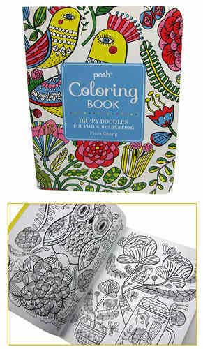 HAPPY DOODLES COLORING BOOK