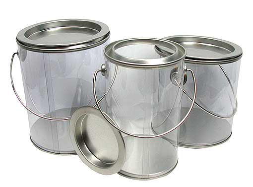 32-OUNCE CLEAR CANS