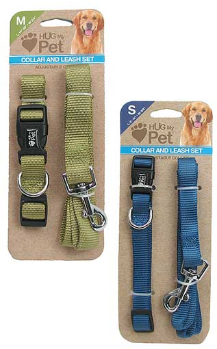 SMALL DOG COLLAR AND LEASH SET