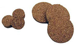 "3"" CORK RING, THIN, 3"" X 2"" I.D. X 1/4"" THICK"