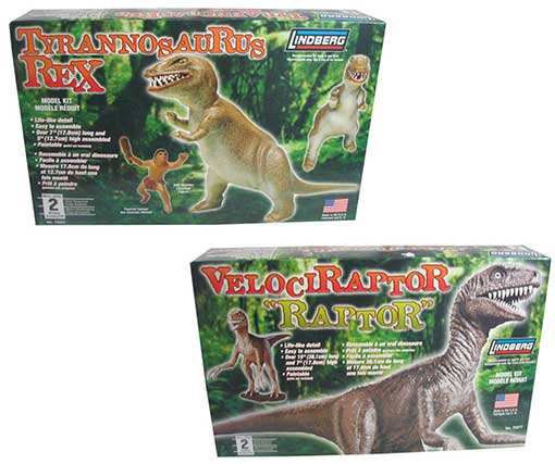 T-REX MODEL KIT WITH CAVEMAN