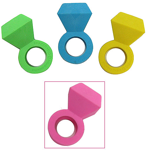SCENTED PINK ERASER RING