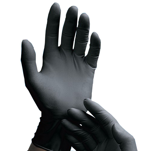 XL BLACK LATEX GLOVES