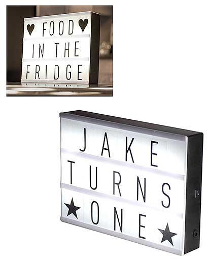 MINI MARQUEE LIGHT UP SIGN