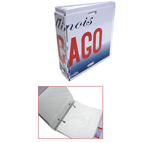 PATRIOTIC-THEMED LICENSE PLATE PHOTO BINDER