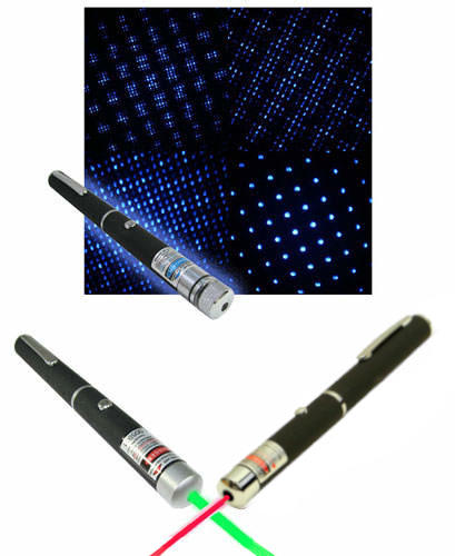 LASER POINTER 2-PACK DEAL / RED & GREEN / 5mW / 92512 & 91071