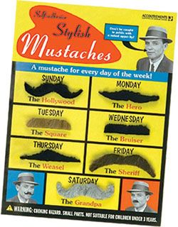 MANLY STICK-ON MUSTACHES