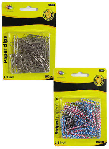 STRIPED COATED PAPER CLIPS