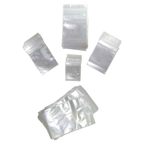 "CLEAR ZIPSEAL BAG, 3"" X 4"", PKG 100"