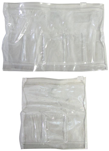 "7-3/4"" CLEAR LARGE VINYL POUCHES"