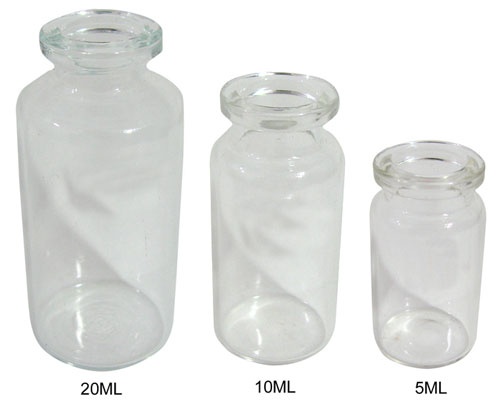 5ML GLASS VIALS. SLEEVE OF 306 VALUE PACK