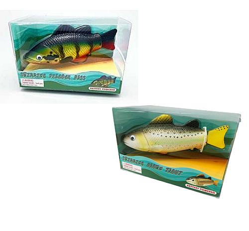 BATTERY-OPERATED SWIMMING TROUT FISH