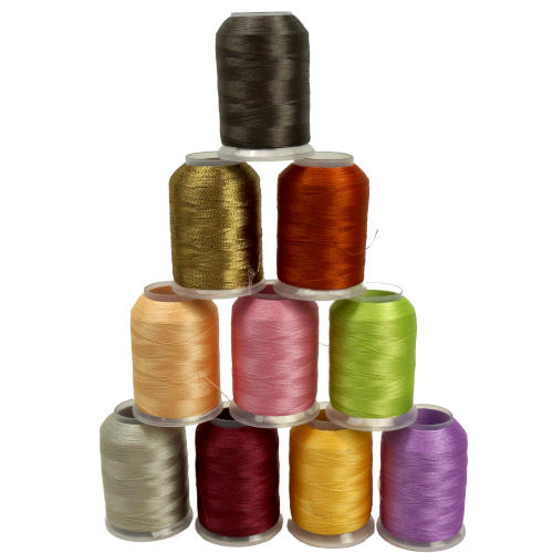 2000 YARD 40 WT POLYESTER EMBROIDERY THREAD 24-DIFFERENT COLORS