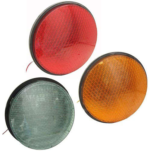 "12"" RED LED TRAFFIC LIGHT 120VAC"