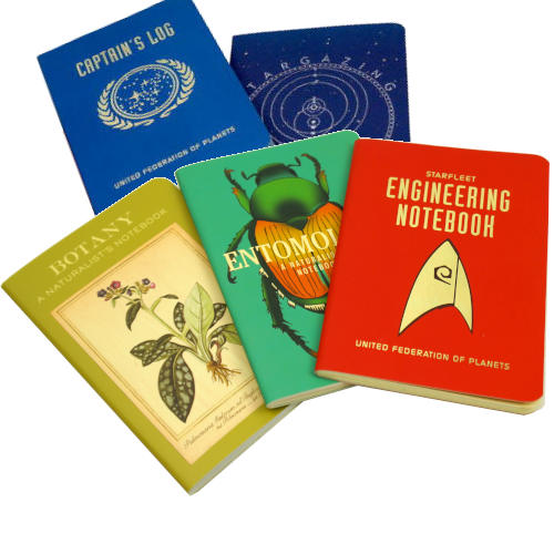 STAR TREK CAPTAIN'S LOG-THEMED RULED NOTEBOOK
