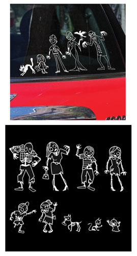 AUTO VAMPIRE WINDOW STICKERS