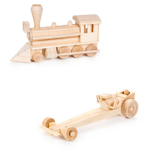 WOODEN STAGE COACH MODEL KIT