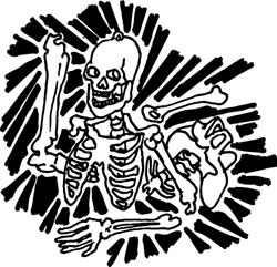 GLOW-IN-THE-DARK PLASTIC SKELETON KIT