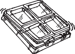 4-COMPARTMENT BOX