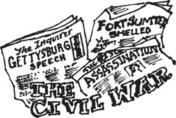60-PAGE CIVIL WAR NEWSPAPER REPRINTS