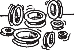 180-PIECE GROMMET ASSORTMENT