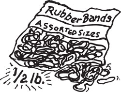 1/2 LB BAG ASSORTED RUBBER BANDS