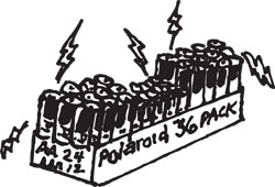36-PACK POLAROID ALKALINE BATTERY ASSORTMENT