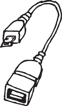 FEMALE USB TO MICRO USB CABLE