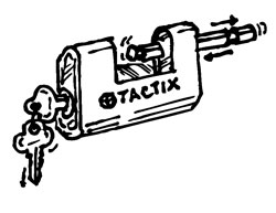 TACTIX® SLIDING BOLT PADLOCK