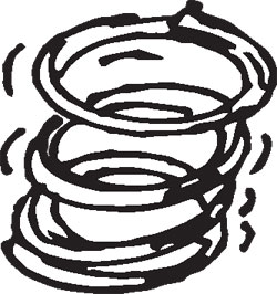 """1-1/8"""" TALL STAINLESS STEEL COMPRESSION SPRINGS"""