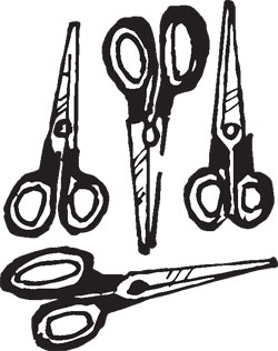 4-PIECE STAINLESS SCISSORS SET