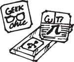 GEEK RUBBER STAMP SET