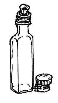 8 OZ GLASS BOTTLES WITH NOZZLES