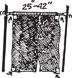 NYLON MESH DOOR SCREEN W/EXTENSION ROD