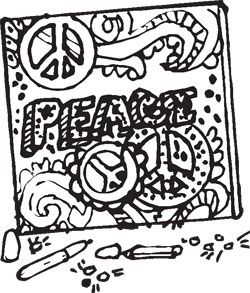 PSYCHEDELIC PEACE ART KIT