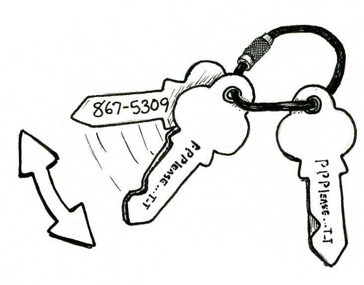 KEY-SHAPED TAGS