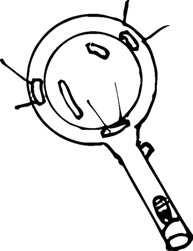 LED MAGNIFYING GLASS WITH HANDLE