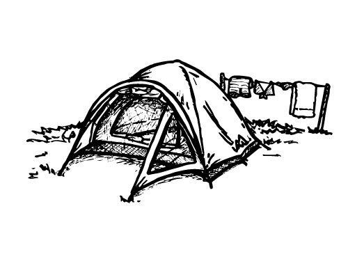 NYLON TWO-PERSON TENT