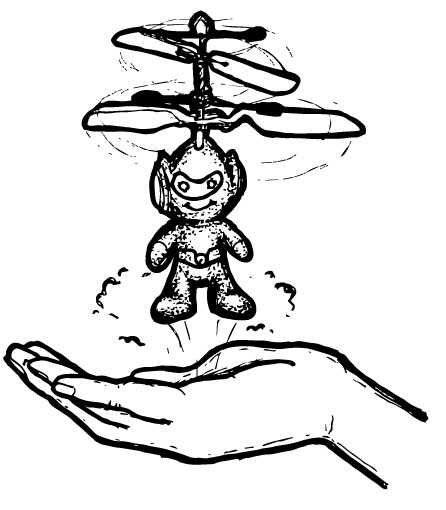 HOVERING SPACEMAN