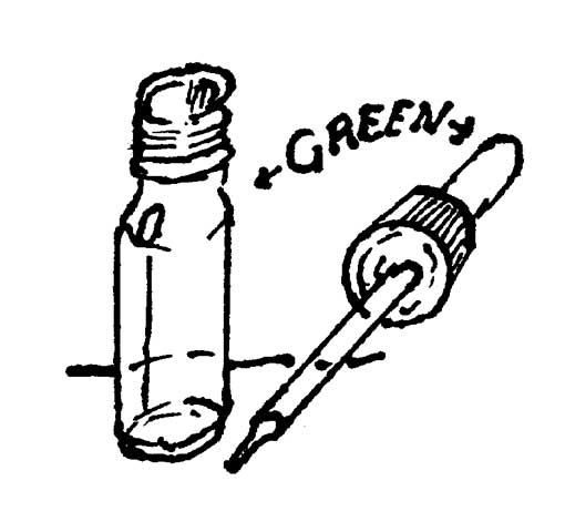 GREEN DROPPER BOTTLE