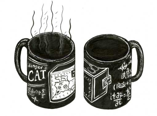 SCHRODINGER'S CAT COFFEE MUGS