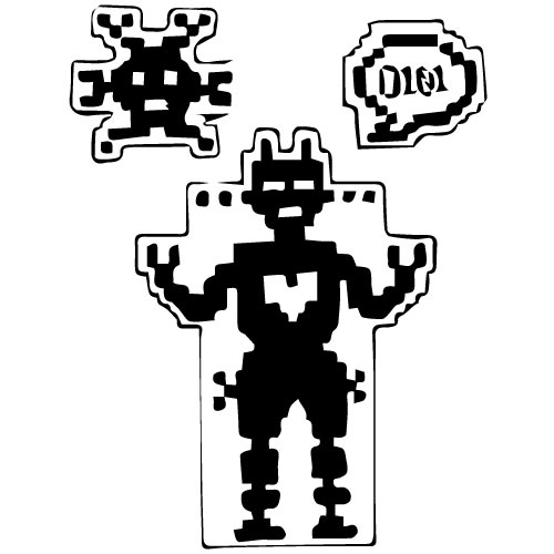 VINTAGE ROBOT-THEMED DECALS