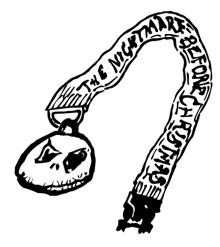 NIGHTMARE BEFORE CHRISTMAS LANYARDS