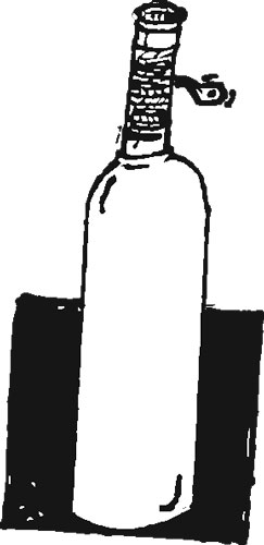 FROSTED-WHITE WINE BOTTLE