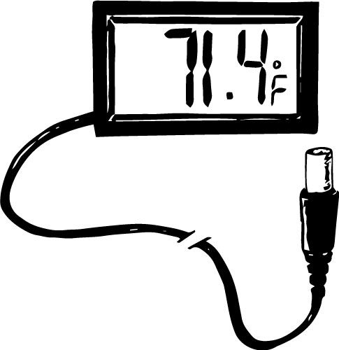 MINI DIGITAL PANEL-MOUNT THERMOMETER