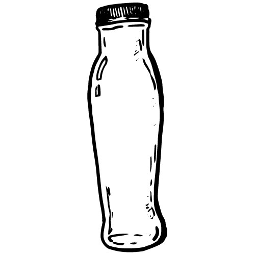 9 OZ CLEAR GLASS BOTTLES