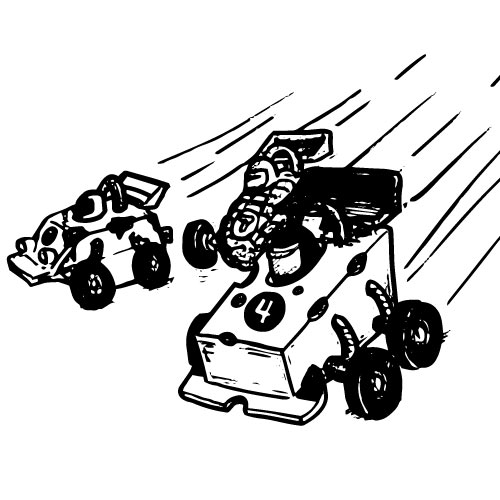 ZIPPY PULLBACK FOOD-THEMED RACE CARS