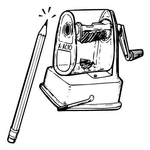 X-ACTO HAND-CRANK PENCIL SHARPENER